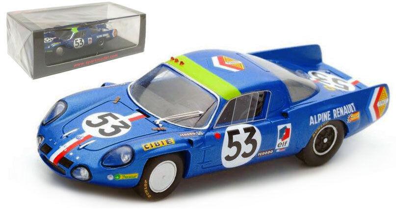 Spark S4374 Alpine A210 Renault Le Mans 1968-Wollek Ethuin 1 43 Escala