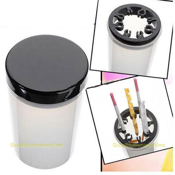 Nail Art Tip Brush Holder Remover Cup Immersion Brush Cleaner Bottle