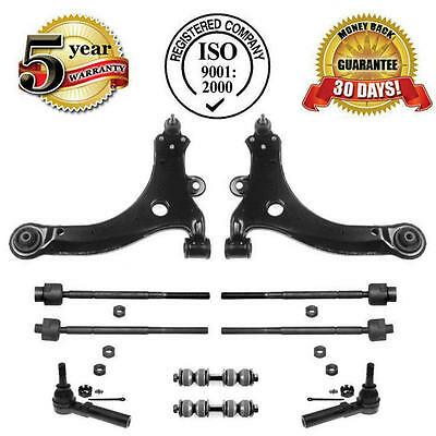 FRONT LOWER CONTROL ARM W/ BALL JOINT + TIE RODS & SWAY BARK LINKS