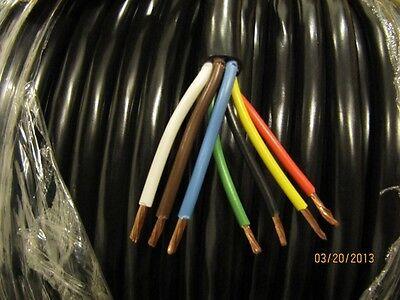RV or Trailer Wire, 7 Wire, 3/12 Gauge, 4/14 Gauge, 7 Conductor 500 feet