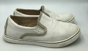 Ugg Australia Fierce White Canvas Slip On Sneakers Womens