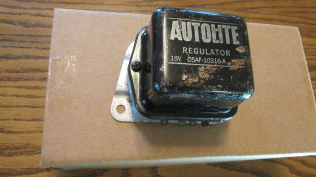 1967 Shelby Gt500 427 Fairlane Nos Autolite Voltage Regulator Check Application