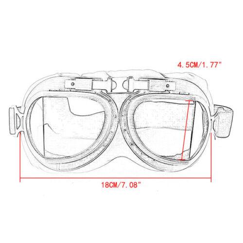 Retro Motorcycle Motorbike Goggles Scooter Pilot Aviator Helmet Glasses New