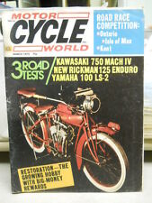 Motor Cycle World Magazine, March 1972, Road Race Competition: Ontario,   box 9