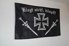 FLAGGE FAHNE REICHSFLAGGE 1779 DEUTSCHES REICH KLAGT NICHT KÄMPFT EK+SCHWERT