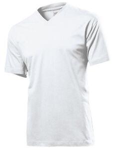 3760b44143e278 5er Pack Herren Kurzarm T-Shirt V-Ausschnitt Weiß o Schwarz S-2XL ...