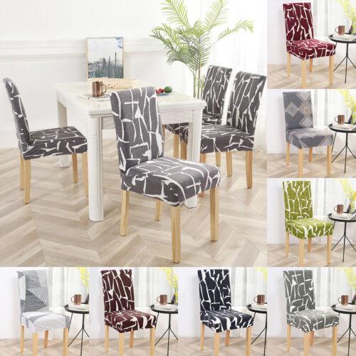 Spandex Stretch Stuhlbezug Elastic Dining Seat Protector Bankett Home Deko ho