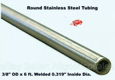 Round Tubing 304 Stainless Steel 38 Od X 6 Ft Welded 0319 Inside Dia