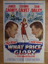 WHAT PRICE GLORY (1952) - original US 1 Sheet film/movie poster, James Cagney