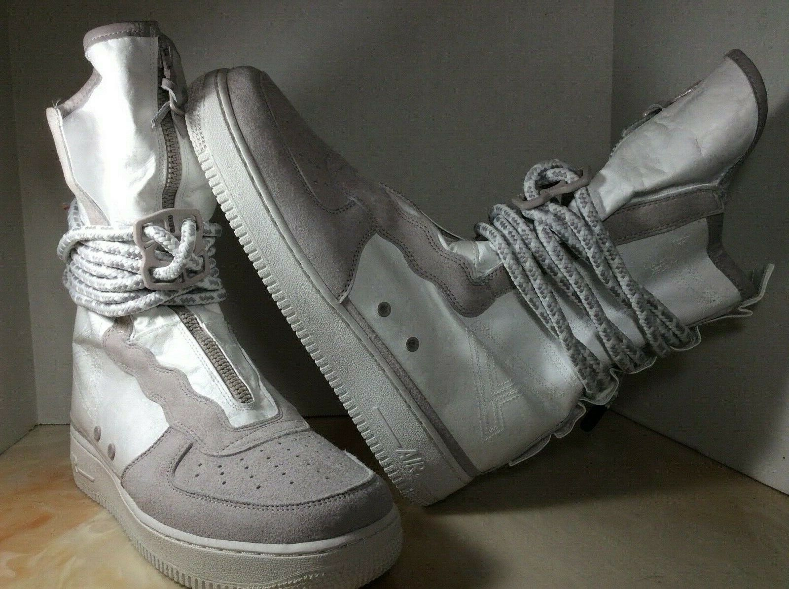 Nike AF1 SF High All Star QS mens size 10.5 white grey AQ0107-001
