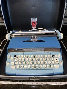 Vintage Smith Corona Coronet Automatic 12 Blue Electronic Typewriter Nice!
