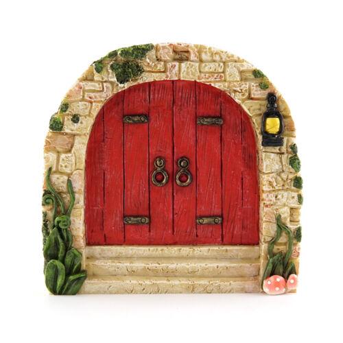 Accessories Miniature Dollhouse FAIRY GARDEN Cobblestone Red Fairy Door