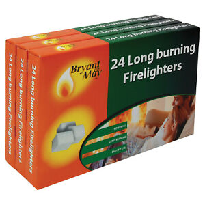Firelighters-Bryant-amp-May-triple-pack-of-72-Long-Burning-Home-Fire-Warm-Heat