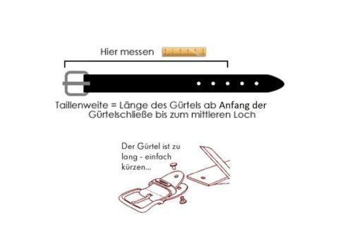 4cm Breit 4mm Dick ca Echt LEDER Gürtel Herren Damen Büffelleder Schwarz
