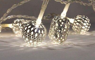 Exotic String Lights 20 Led White Maroq Moroccan Wedding Home decor