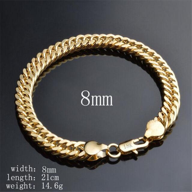 Hot Gold Bracelet Design 8mm Jewelry Hand 18k Side Wall Chain Snake Bone Shape