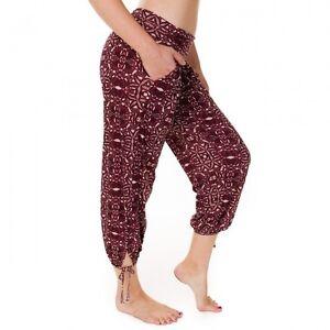 f34cb243b336e Details about Onzie Hot Yoga Gypsy Pants 212 Bordeau