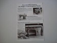advertising Pubblicità 1972 MACCHINA PER CUCIRE SINGER