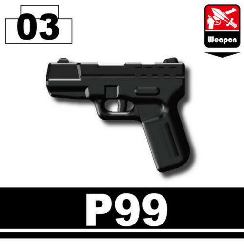 P99 W171 Pistol compatible with toy brick minifigures Army SWAT