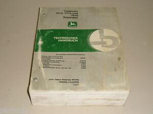 Werkstatthandbuch-Reparaturanleitung-John-Deere-Traktor-7610-7710-und-7810