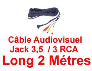 Cable-Camescope-ou-Platine-jeux-Jack-3-5-Male-4-Contacts-vers-3-RCA-Long-2-M