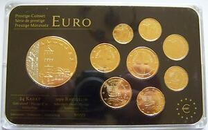 Euro Kms Münzen Zypern Gold Rhodium Applikation Münze