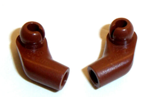 Lego Minifig Arms x 2 Red Brown 1 Pair