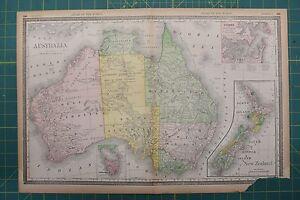 Australia vintage original 1894 rand mcnally world atlas map lot image is loading australia vintage original 1894 rand mcnally world atlas gumiabroncs Images