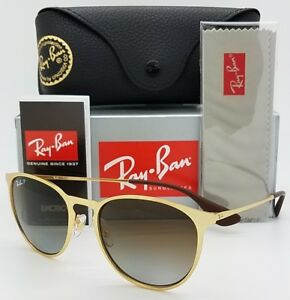 27cff9bb216 Details about NEW Rayban Erika Metal Sunglasses RB3539 112 T5 54 Gold Brown  Gradient Polarized