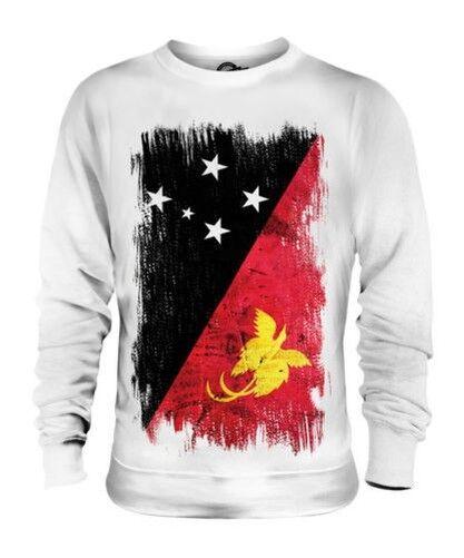 Papua Neu Guinea Grunge Flag Unisex Pullover Top Papua Niugini Papuan Guineas
