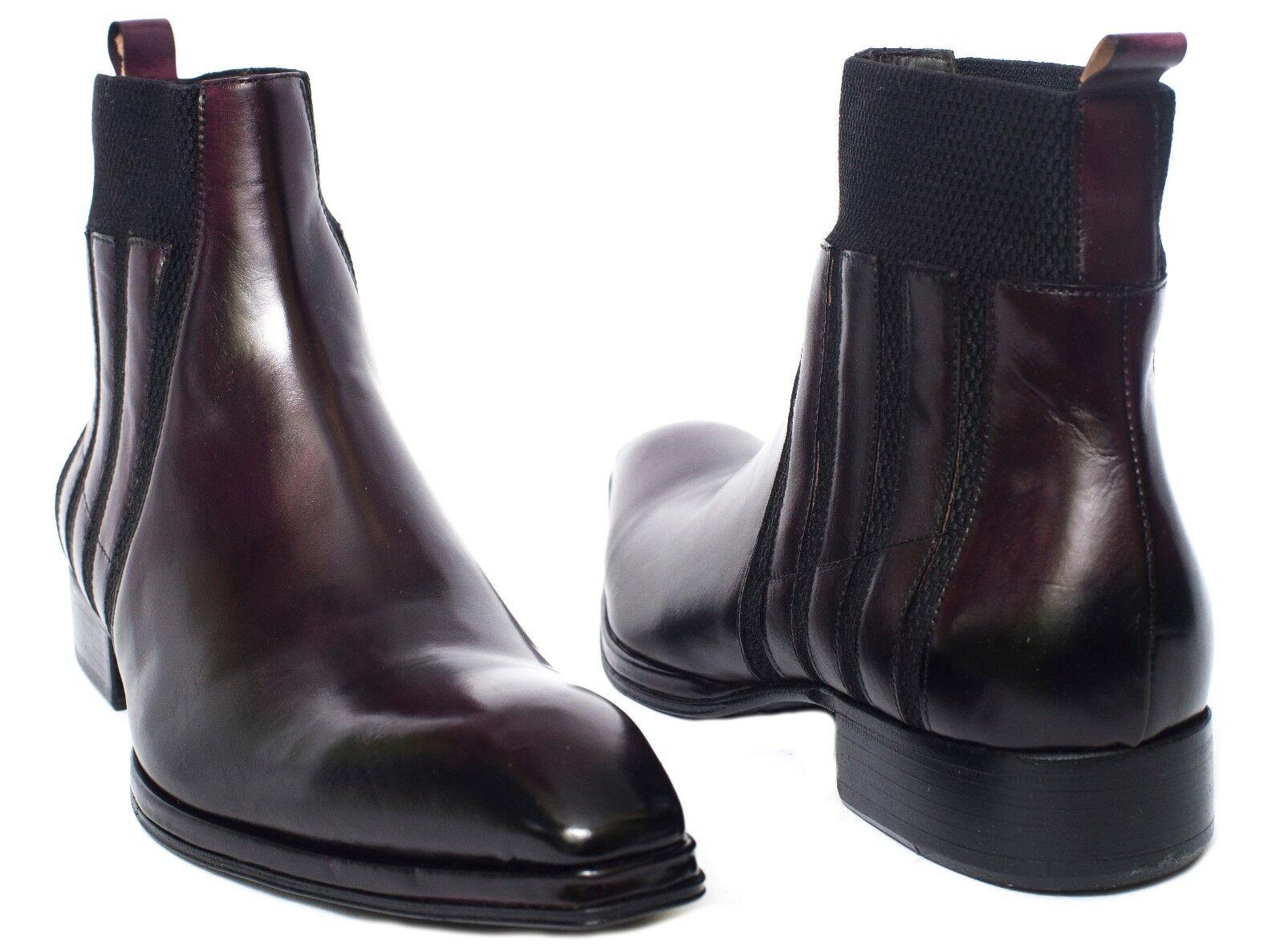 Jo Ghost260 M    Italian burgundy ankle slip slip slip on boots with decorative elastic 6c4047