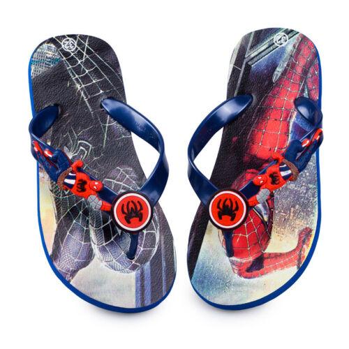 Funny Kids Boys Spiderman Beach Flip Flops Funny Anime Children Shoes Slippers