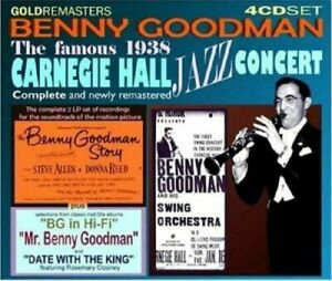BENNY-GOODMAN-Complete-1938-Carnegie-Hall-plus-other-1950-039-s-material-4-X-CD-SET