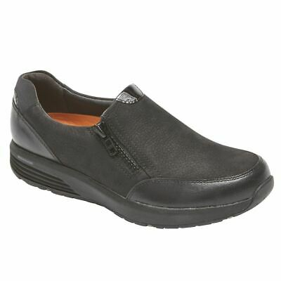 Comfort Shoes Enthusiastic Rockport Donna Zip Laterale Casual Scarpe Nere Bx2925