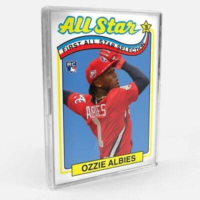 2018 Topps TBT #136 ATLANTA BRAVES Ozzie Albies RC /'89 topps all star design