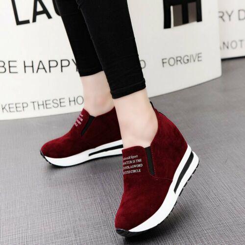 Details about  /Zapatos de Mujer Casuales Calzado de Muchachas Zapatillas Rojo Negro Comodo Moda