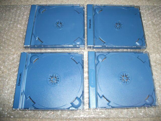 4x Neu Offiziell Sega Dreamcast Spiel Fällen (PAL) selten keine beschädigungen