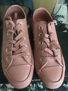 0010c283f1bd Image is loading Converse-All-Star-Low-Leather-Nude-Pink-Desert-