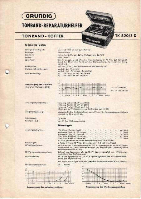 Service Manual For Grundig Tk 820  3 D