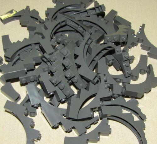 LEGO LOT OF 50 NEW 1 X 5 x 4 DARK BLUISH GREY TREE BRANCHES CASTLE ARCH PIECES