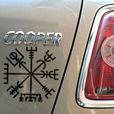 "4""  Vegvisir Runic Compass Gloss Vinyl Car Sticker, Pagan, Norse, Bjork Tattoo"