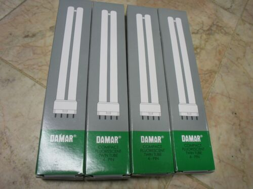 New 4 PK Damar Compact Fluorescent Single Twin Shape 4 Pin for use Dimmable