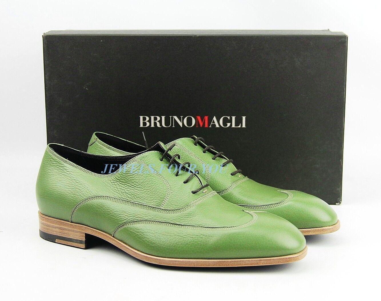 acquisti online BRUNO MAGLI TENDER verde HANDMADE scarpe 100% 100% 100% DEER LEATHER ITALY NEW Dimensione 9   3  con il prezzo economico per ottenere la migliore marca