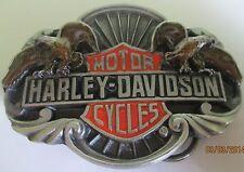 New Vintage Harley Davidson Siskiyou Belt Buckle1989 -Live to Ride--Ride to Live