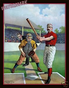 Image Is Loading Wall Art Photograph Of 1885 American Baseball Player