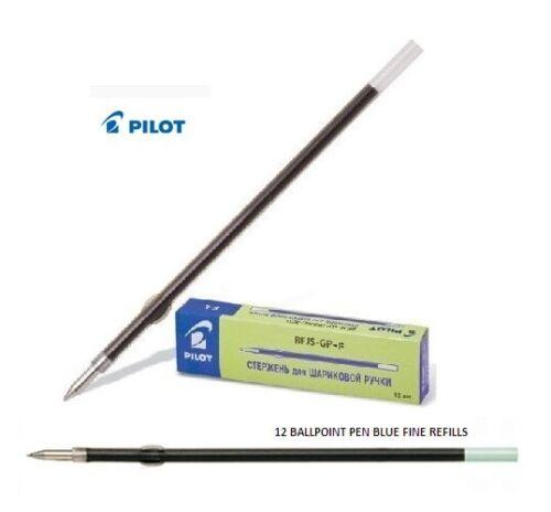 fine PILOT 0.7mm Pack of 12 Ball Point Pen BLUE Refills RFJS-GP-F