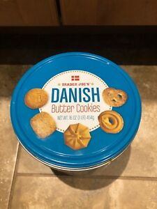 Details About Trader Joe S Danish Butter Cookies Christmas Holiday Festive Empty Tin Denmark