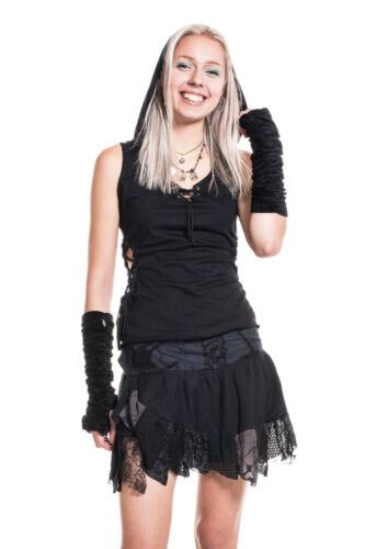 Elven Haloween Top Psy Trance Clothing Pixie Hood Vest Top Gothic Pixie Top