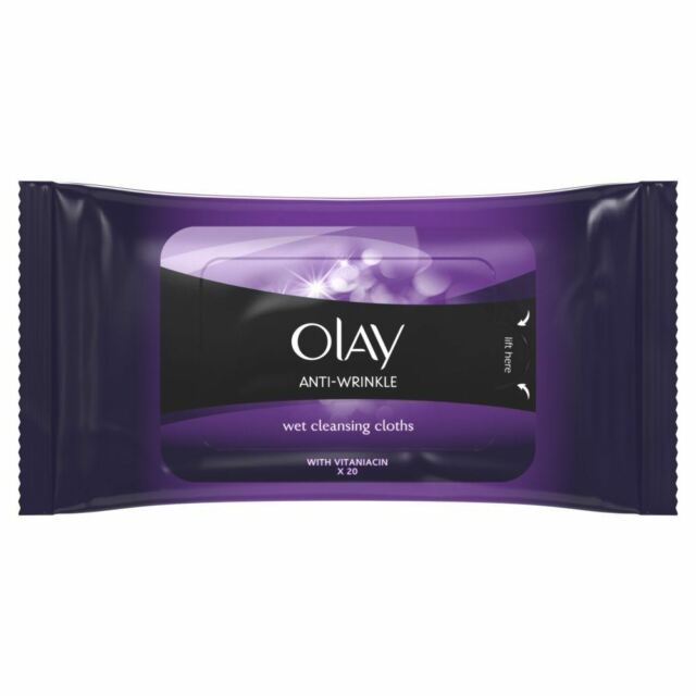 Olay Anti-Wrinkle Cleansing Face Wipes Wet Cloths Age Defying Hydrating 20 wipes