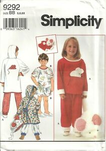Simplicity Pattern Child and Gilrls Nightgown and Pajamas 6815 Complete Cut